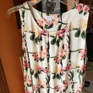 Charter Club short sleeved floral blouse.